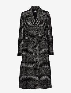 Tailored Check Coat - BLACK/WHITE