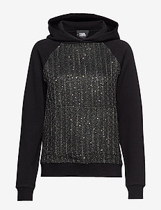 Boucle & Sweat Mix Hoodie - GOLD