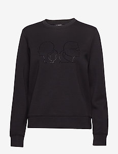 Karl X Olivia Profile Sweat - 999 BLACK