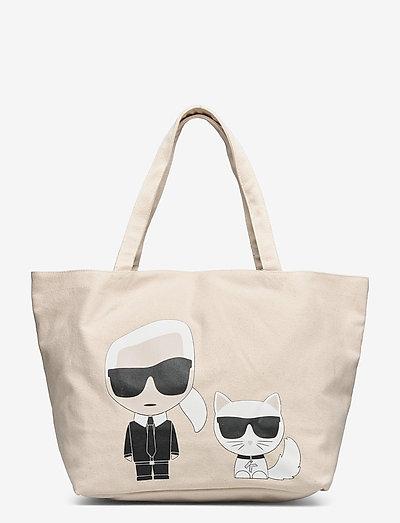 K/Ikonik Karl & Choupette Tote - tote bags - natural