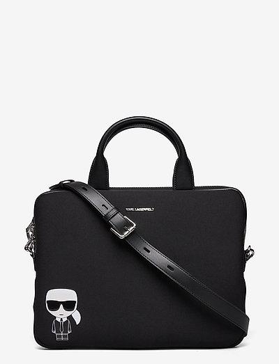 K/Ikonik Laptop Sleeve W Strap - tasker - black