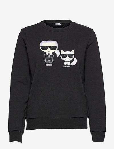 Ikonik Karl &Choupette Sweat - sweatshirts & hættetrøjer - black