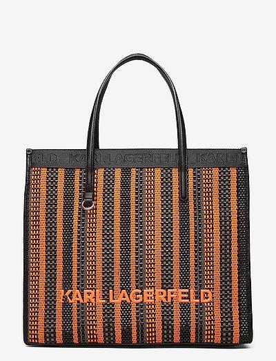 k/skuare tote braided - shoppingväskor - orange