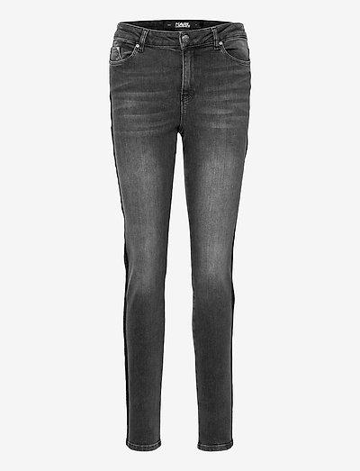 Kl Stripe Skinny Denim - skinny jeans - grey denim