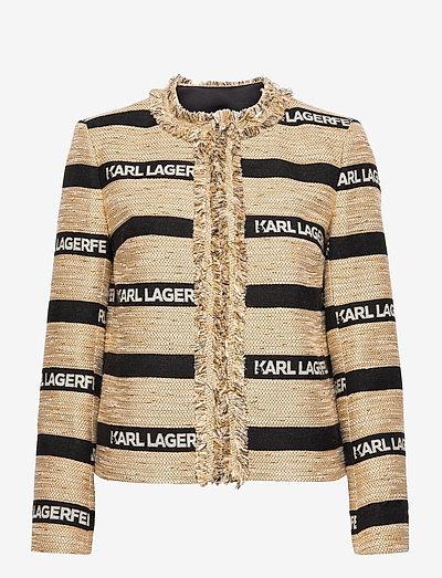 Kl Jacquard Jacket - boucles - beige/black