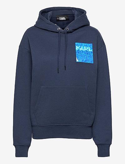Graphic Pool Hoodie - sweatshirts & hættetrøjer - black iris