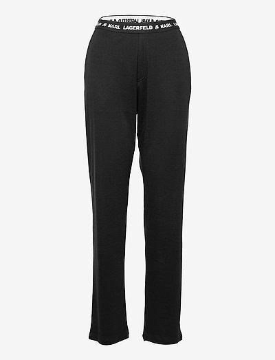 Unisex Logo Pyjama Pants - nattøj & hyggetøj - black