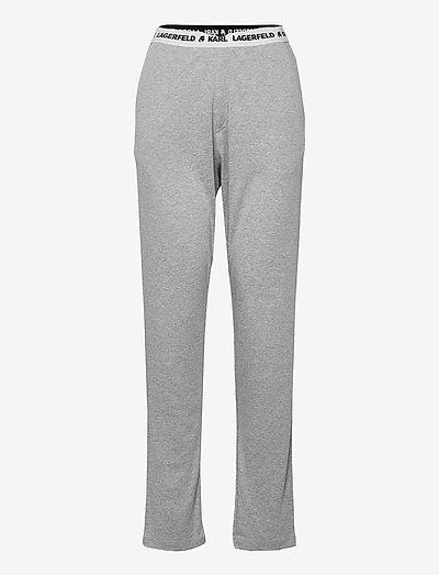 Unisex Logo Pyjama Pants - nattøj & hyggetøj - grey melang