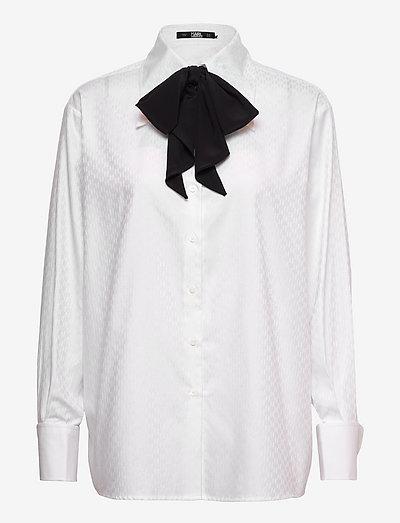 Kl Monogram Poplin Shirt - denimskjorter - white