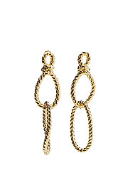 SAILOR'S KNOT STATEMENT EARRINGS - GOLD