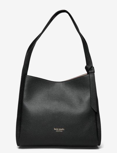 KNOTT LARGE SHOULDER BAG - väskor - black