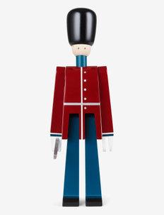 Officer med sabel lille rød/blå/hvid - trefigurer - red/blue/white