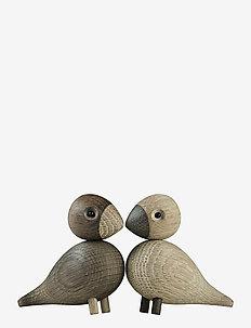 Turtelduer  1 par - trefigurer - oak/smoked oak