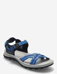 KE TERRADORA II STRAP OPEN TOE W NAVY-MYKONOS BLUE - hiking sandals - navy-mykonos blue