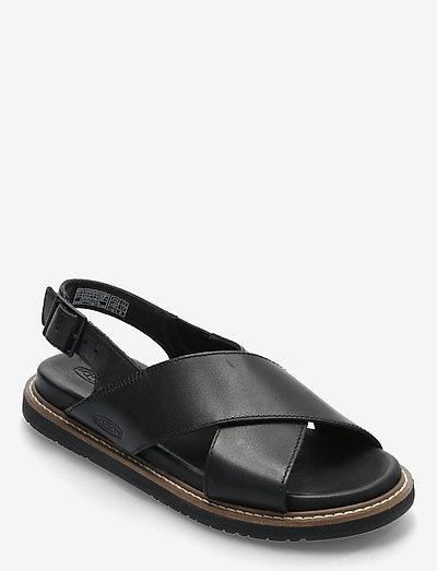 KE LANA CROSS STRAP SANDAL W BLACK-BLACK - flade sandaler - black-black