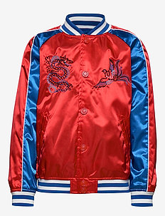 JOEL - bomber jackets - red