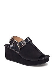 Heeled Sandals Main - BLACK