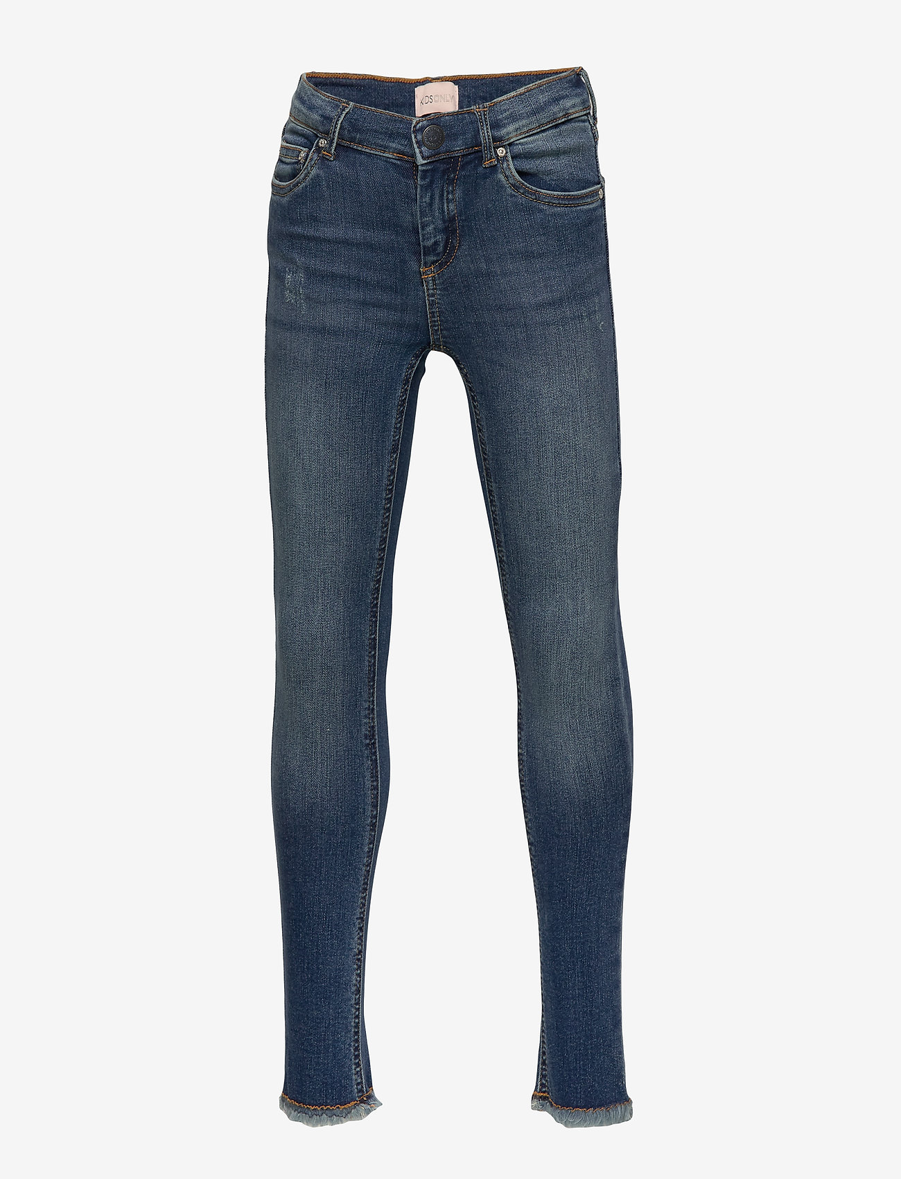 Kids Only - KONBLUSH SKINNY RAW JEANS 1303 NOOS - jeans - medium blue denim - 0