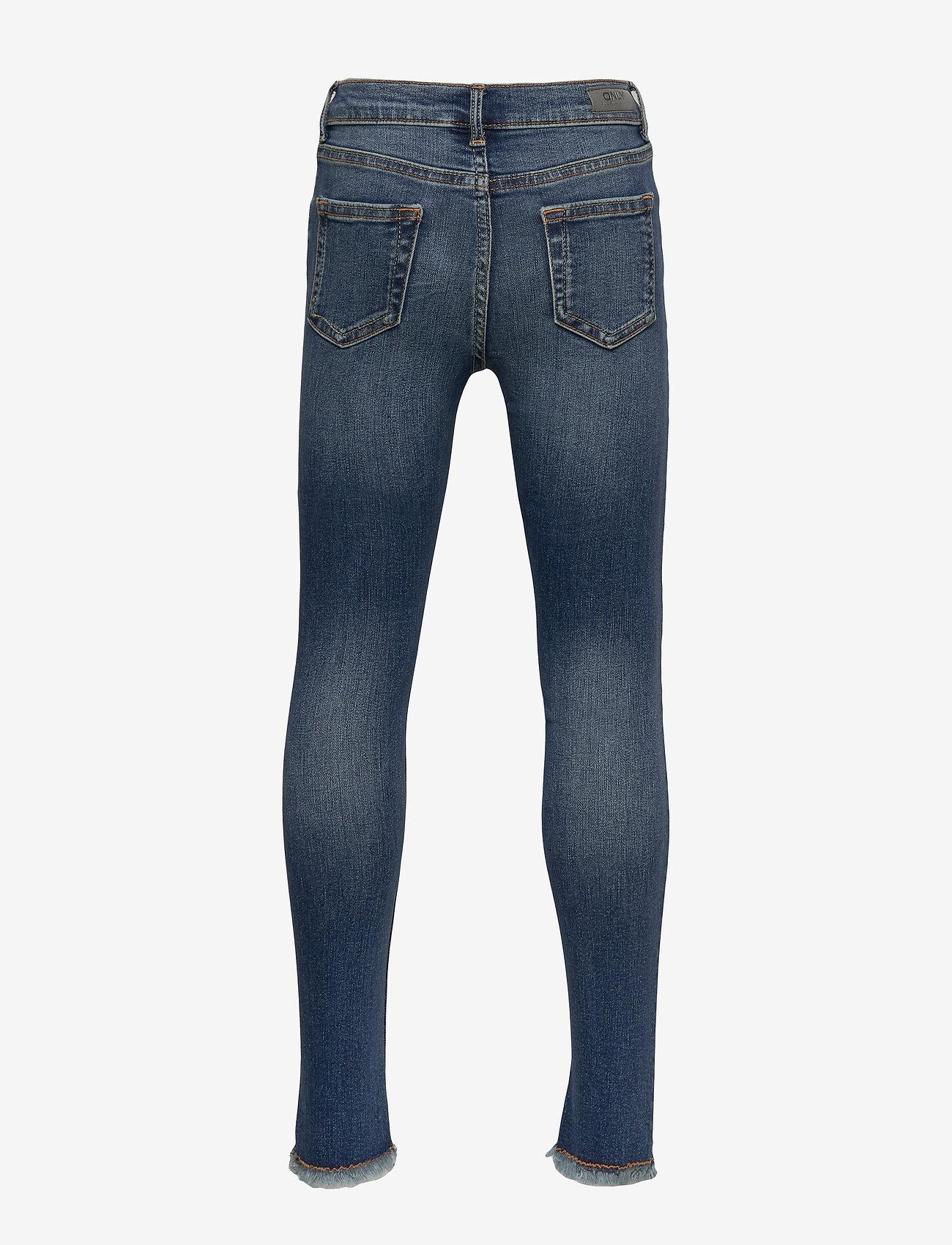 Kids Only - KONBLUSH SKINNY RAW JEANS 1303 NOOS - jeans - medium blue denim - 1