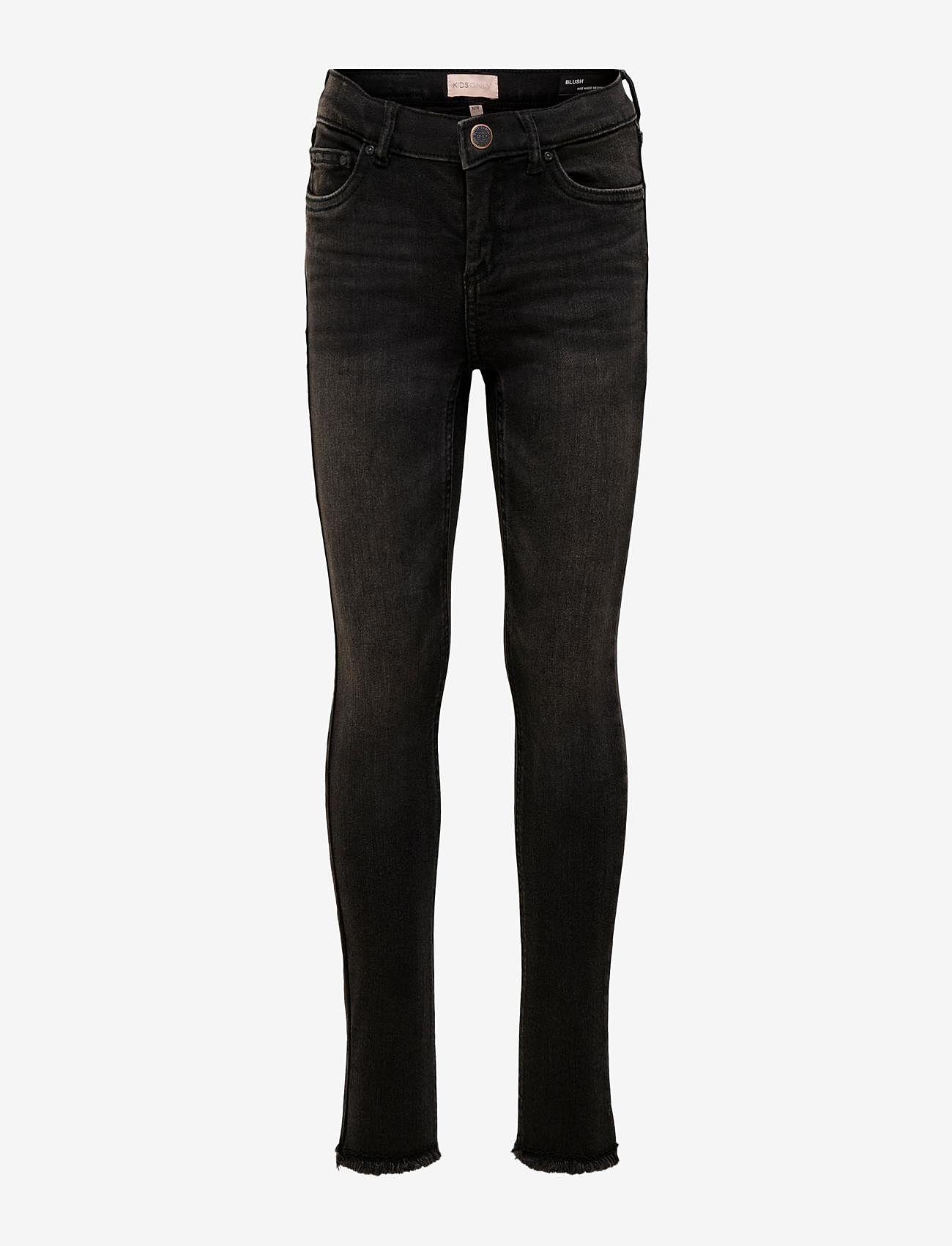 Kids Only - KONBLUSH SKINNY RAW JEANS 1099 NOOS - jeans - black denim - 0