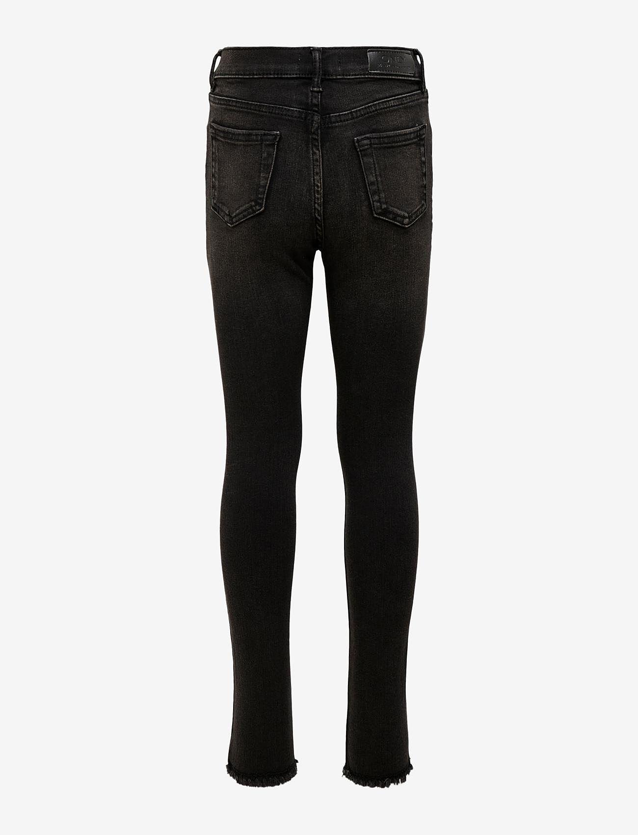 Kids Only - KONBLUSH SKINNY RAW JEANS 1099 NOOS - jeans - black denim - 1