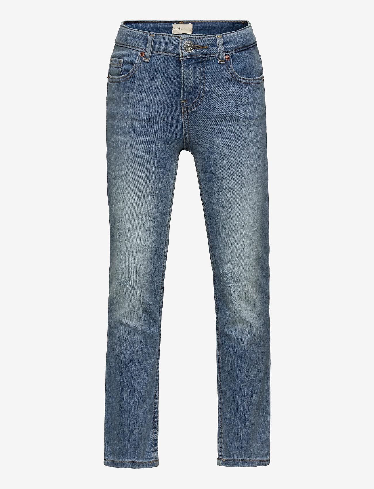 Kids Only - KONSOPHIE ANKLE STRAIGHT JEANS - jeans - light blue denim - 0