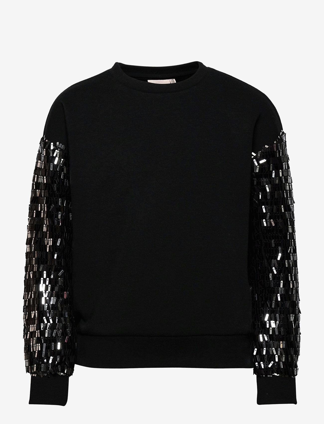 Kids Only - KONOLGA L/S SEQUINS SWT - sweatshirts - black - 0