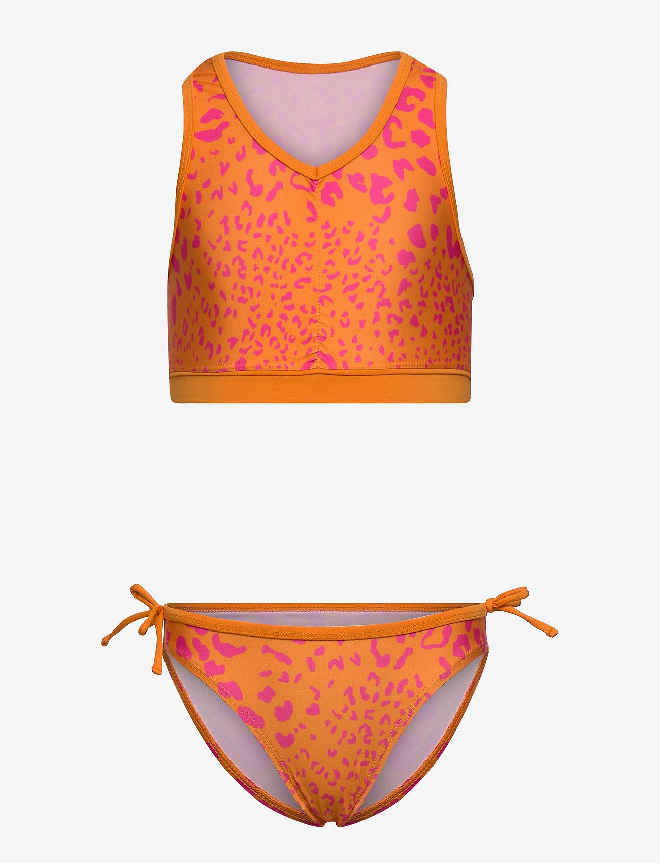 Kids Only - KONMARIE LEO UV 50 BIKINI SET - bikinis - flame orange - 0