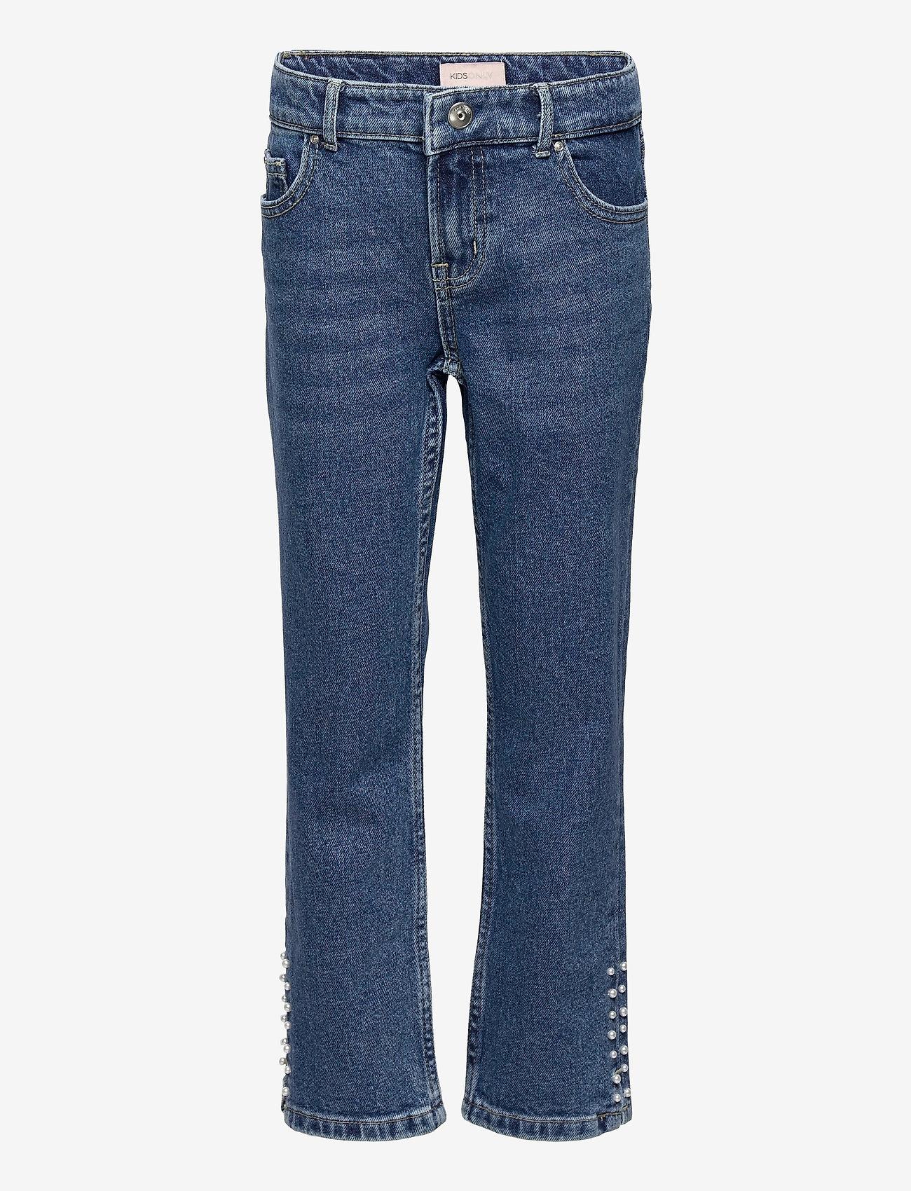 Kids Only - KONEMILY LIFE HW STR CAP DNM JNS MAE005 - jeans - medium blue denim - 0