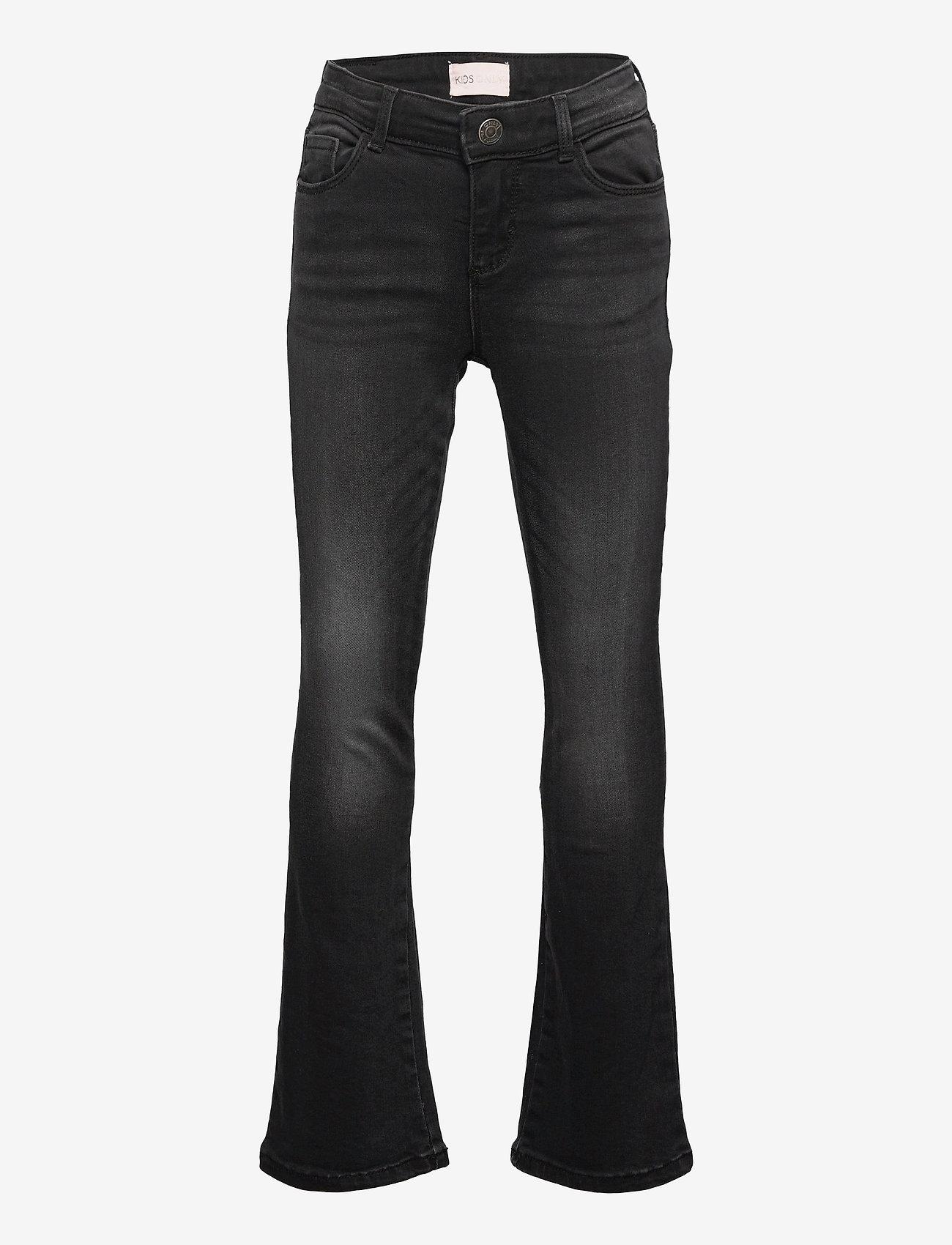 Kids Only - KONLINN FLARED DARK GREY DNM JEANS  AZG - jeans - dark grey denim - 0