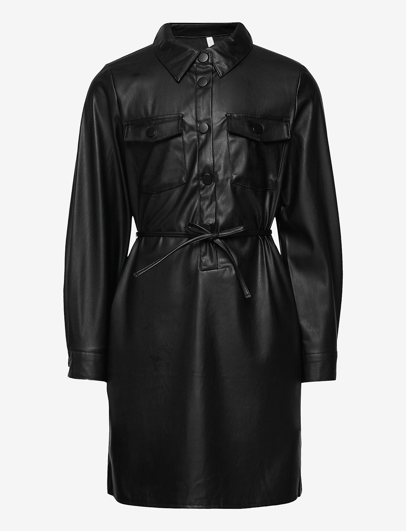 Kids Only - KONBIRDIE PU BELT DRESS PNT - black - 0