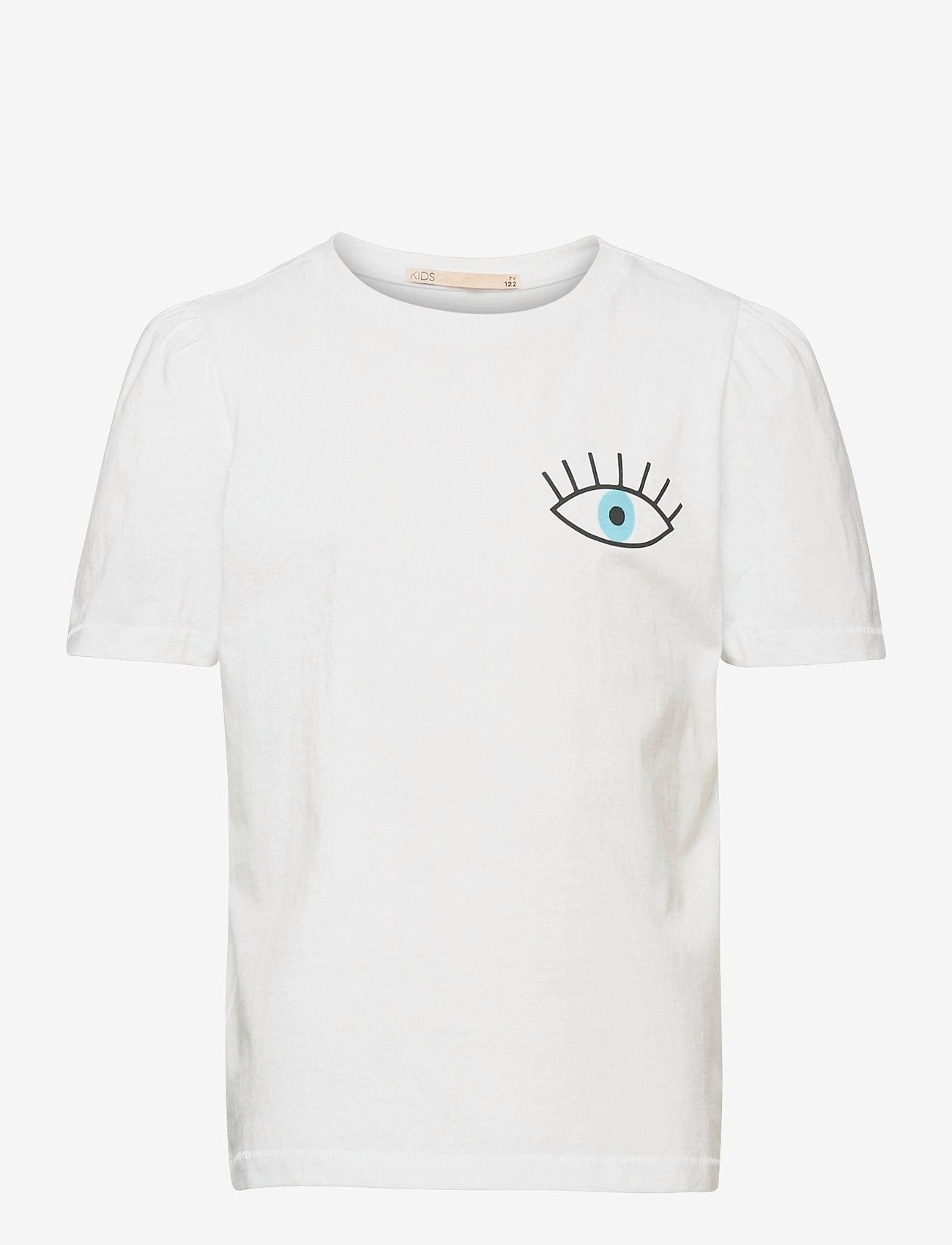 Kids Only - KONNORA LIFE VOLUME SS DNM TEE - t-shirts - white - 0