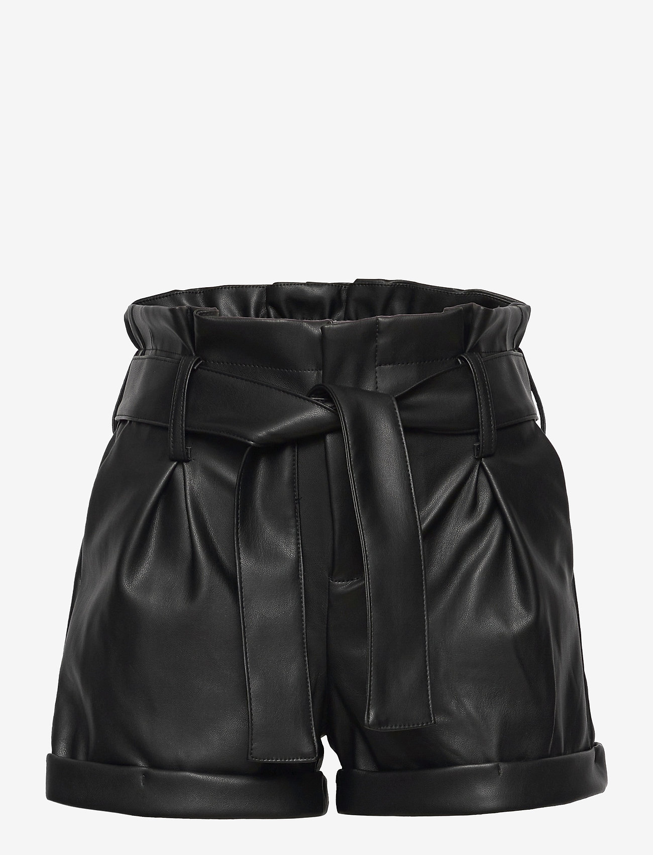 Kids Only - KONCHARLI FAUX LEATHER SHORTS PNT - shorts - black - 0