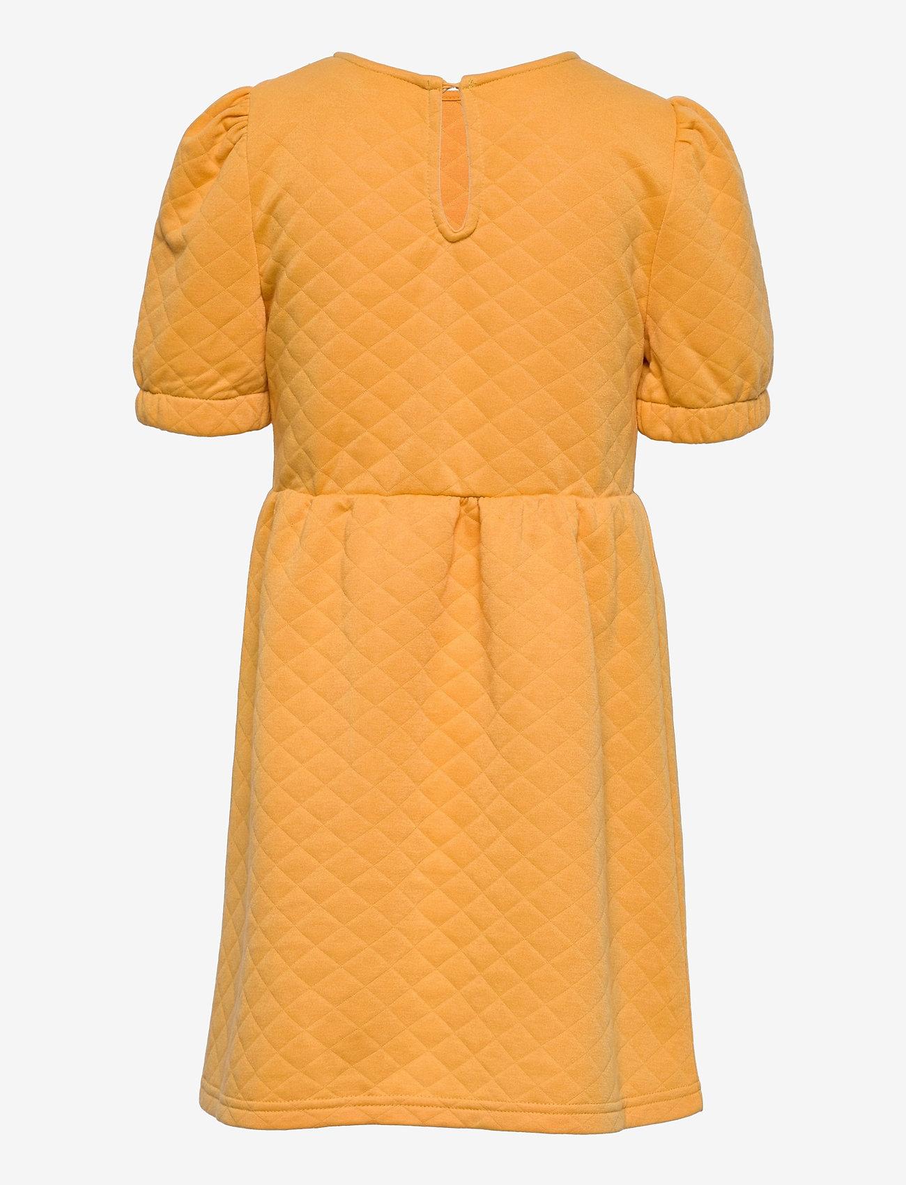 Kids Only - KONMEDINA S/S PUFF DRESS SWT - kleider - cornsilk - 1