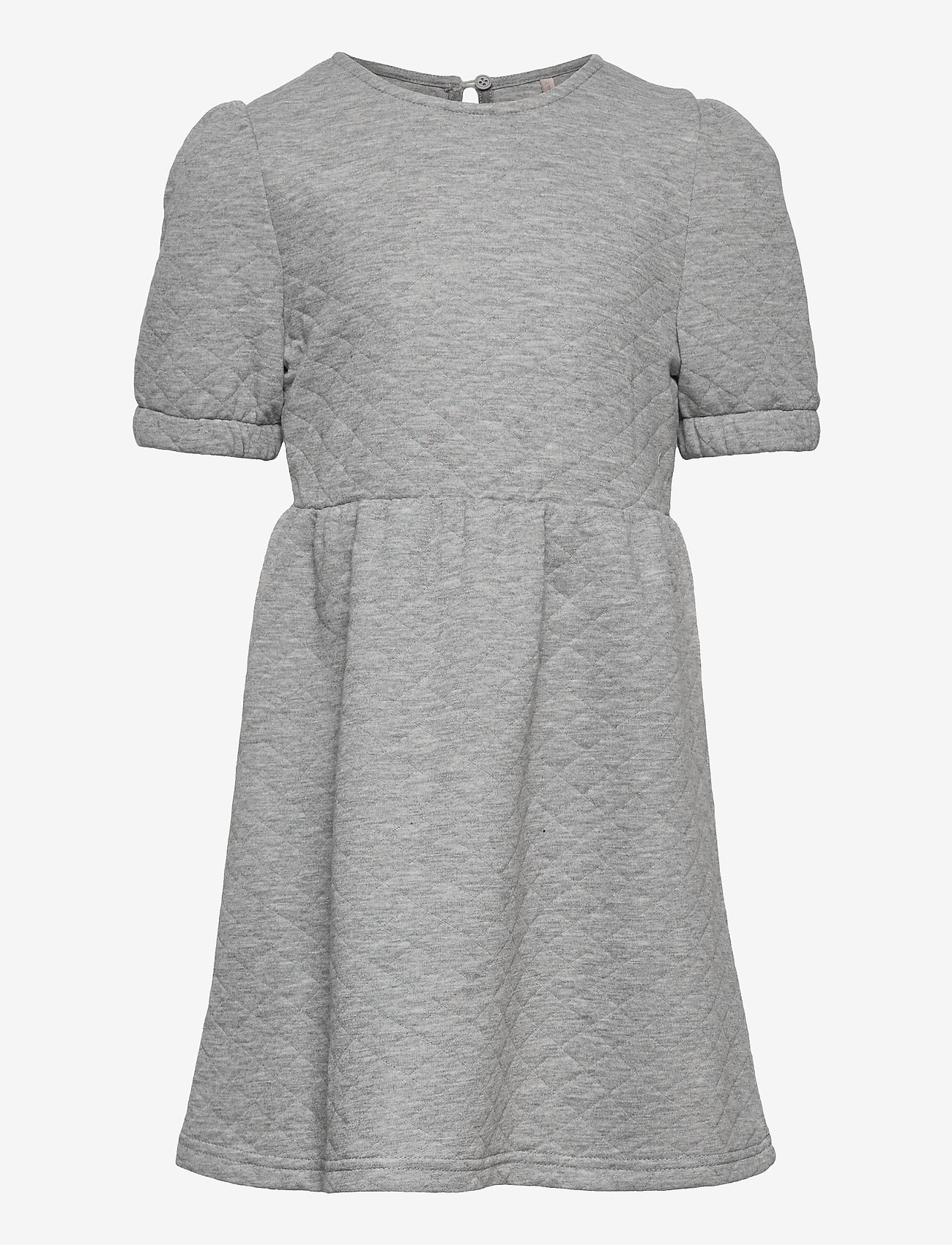 Kids Only - KONMEDINA S/S PUFF DRESS SWT - kleider - light grey melange - 0