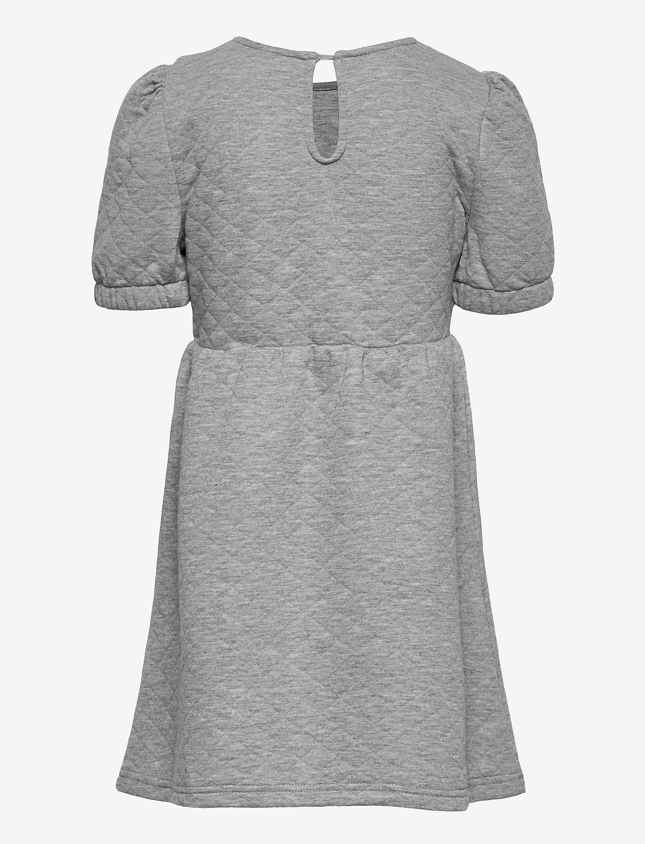 Kids Only - KONMEDINA S/S PUFF DRESS SWT - kleider - light grey melange - 1