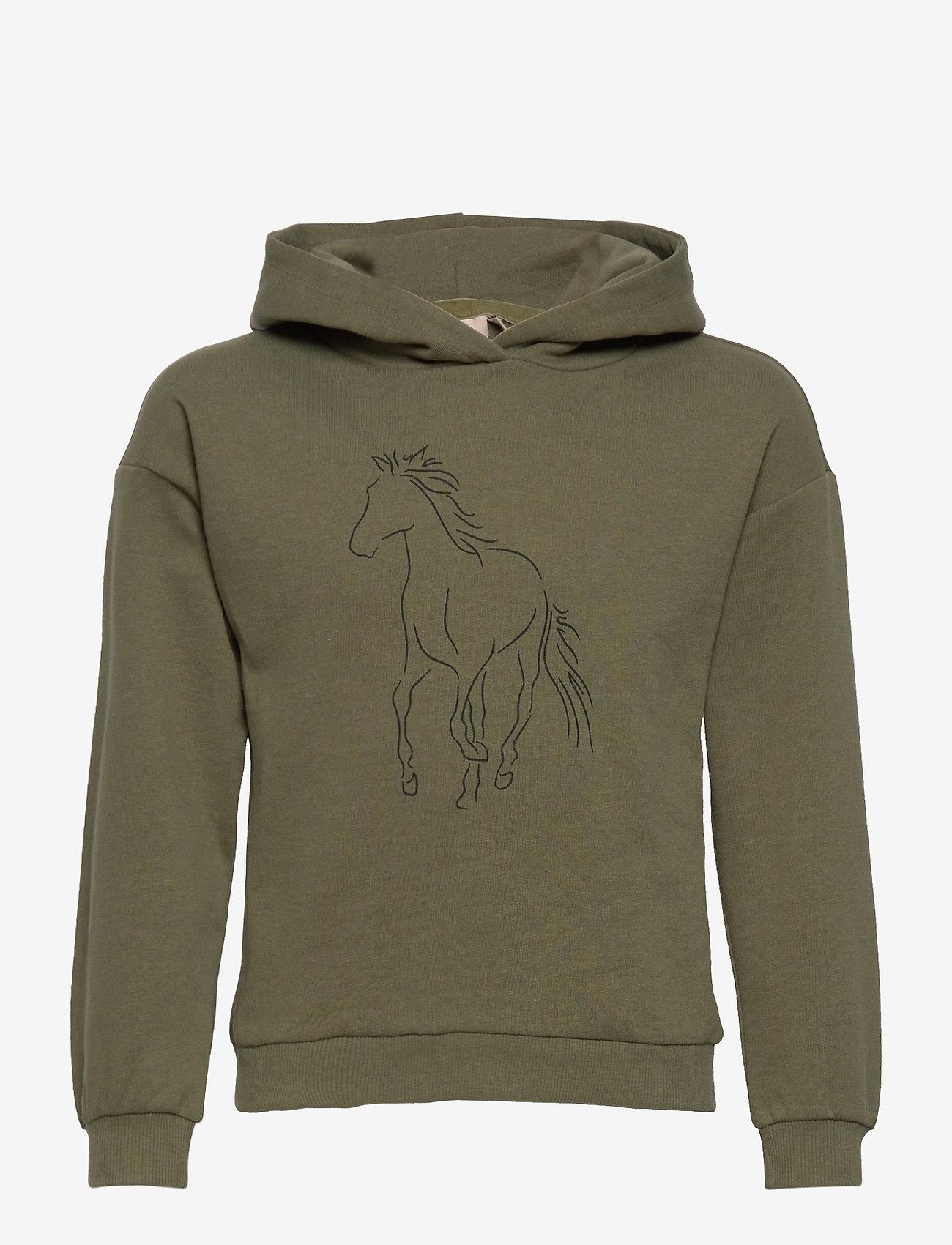 Kids Only - KONJUANA HORSE/COWGIRL BOX HOOD CS  SWT - kapuzenpullover - kalamata - 0