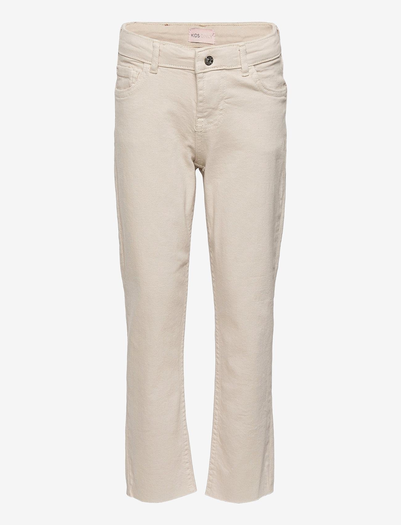 Kids Only - KONEMILY ST ECRU RAW EDGE PANT PNT - jeans - ecru - 0