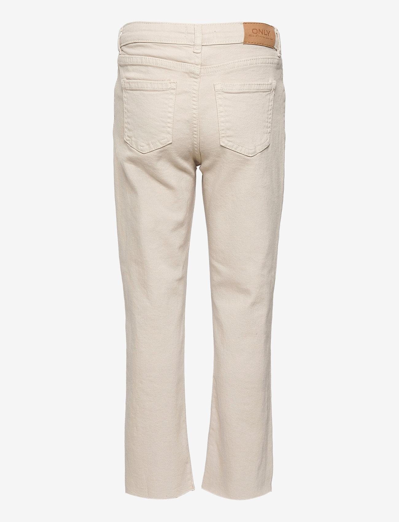 Kids Only - KONEMILY ST ECRU RAW EDGE PANT PNT - jeans - ecru - 1