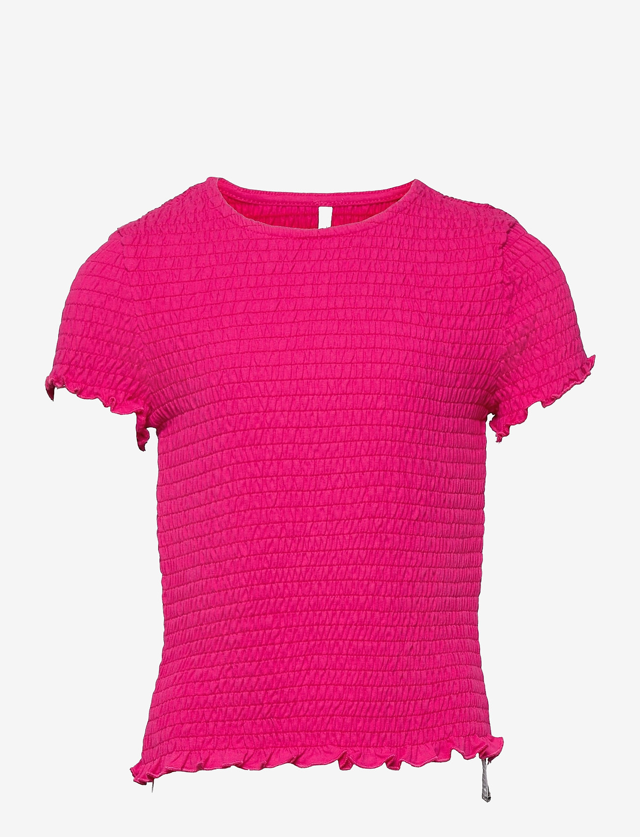 Kids Only - KONDELI LIFE S/S SMOCK TOP JRS - t-shirts - beetroot purple - 0