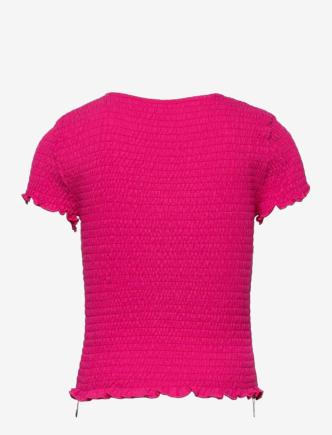Kids Only - KONDELI LIFE S/S SMOCK TOP JRS - t-shirts - beetroot purple - 1