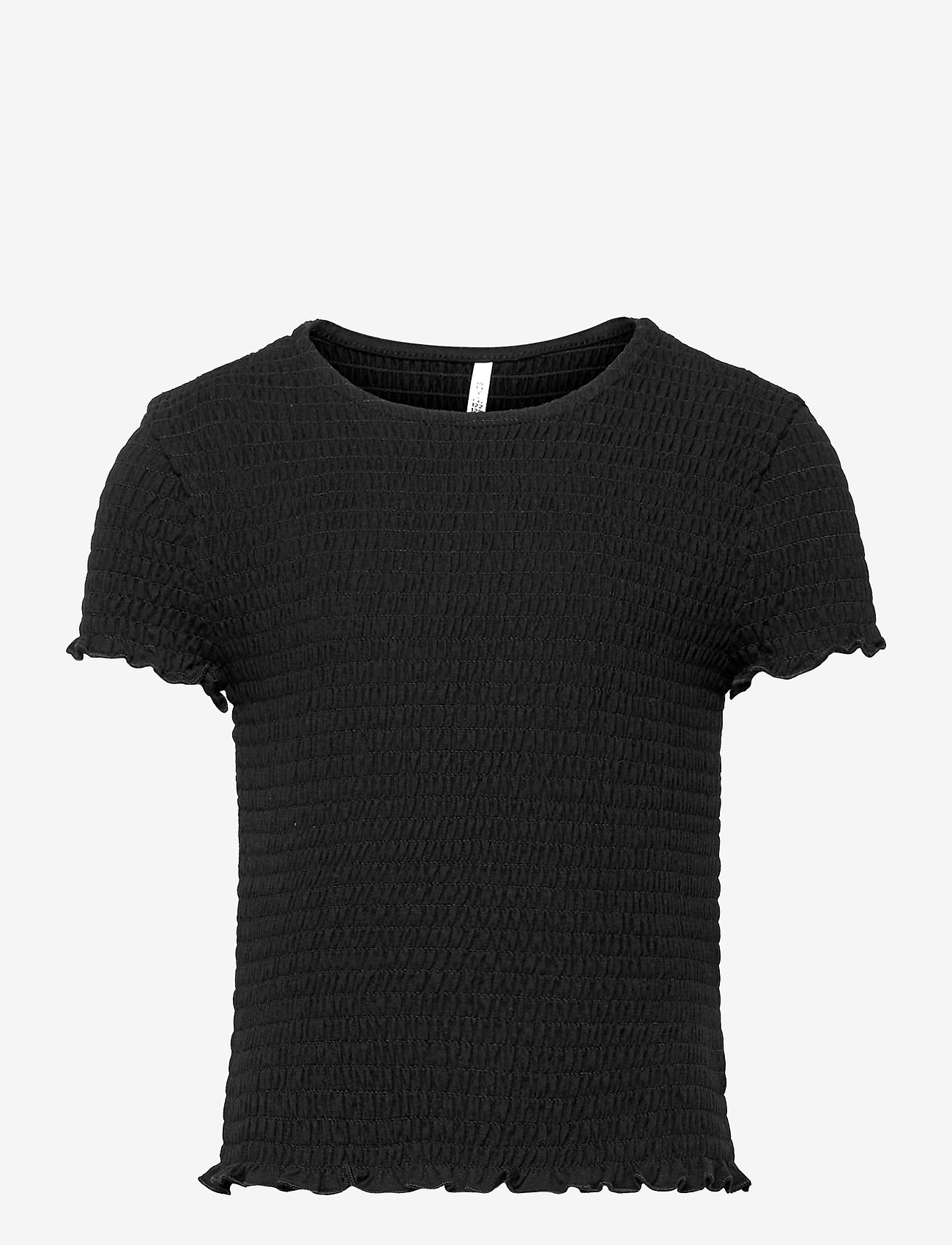 Kids Only - KONDELI LIFE S/S SMOCK TOP JRS - t-shirts - black - 0