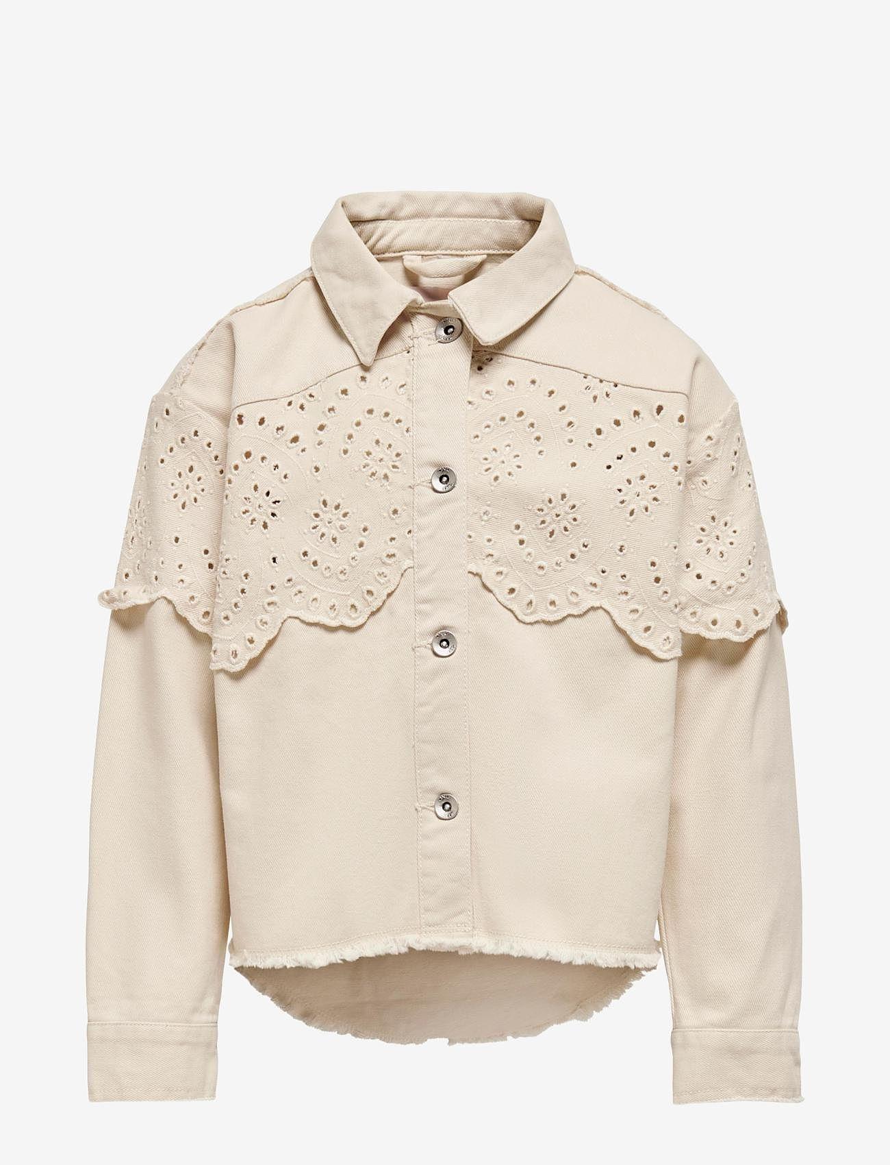 Kids Only - KONELENA LIFE CROCHET JACKET OTW - shirts - moonbeam - 0