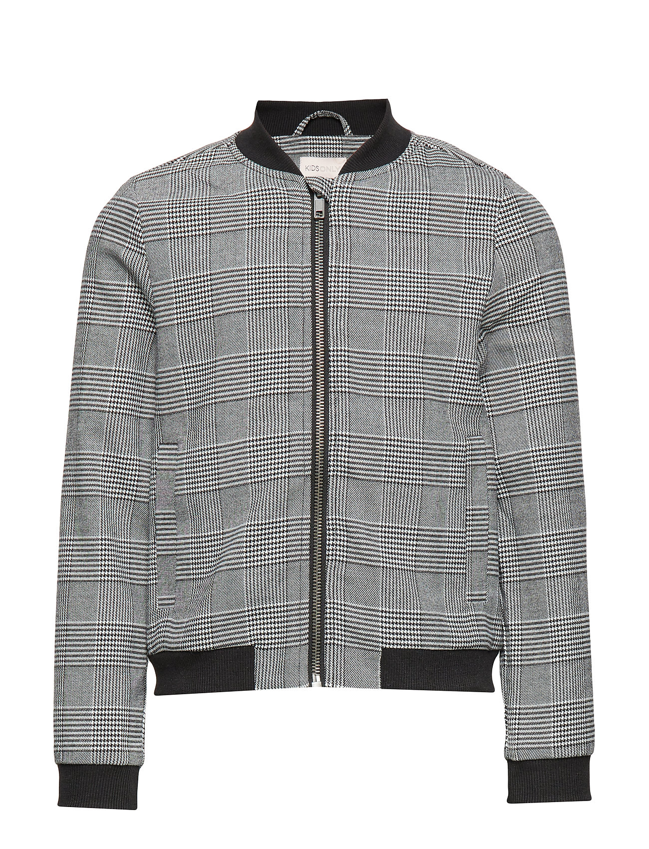 Kids Only KONPOPTRASH SOFT CHECK BOMBER JACKET - MEDIUM GREY MELANGE