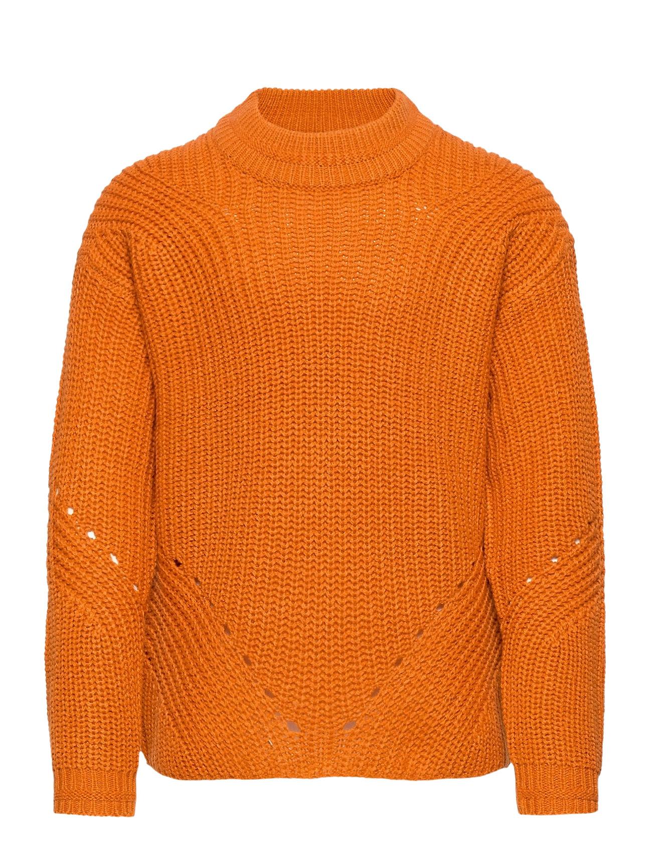 Image of Konriley L/S Pullover Knt Pullover Striktrøje Orange Kids Only (3458925881)
