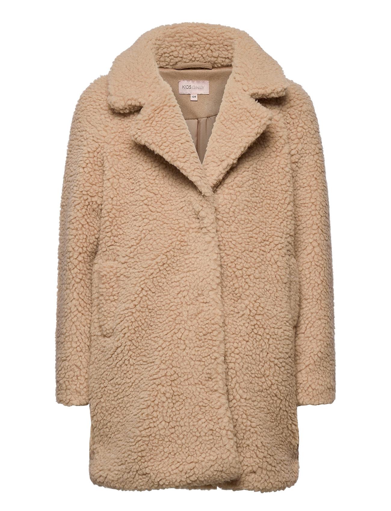 Image of Konnewaurelia Sherpaa Coat Cp Otw Outerwear Wool Outerwear Brun Kids Only (3441399681)