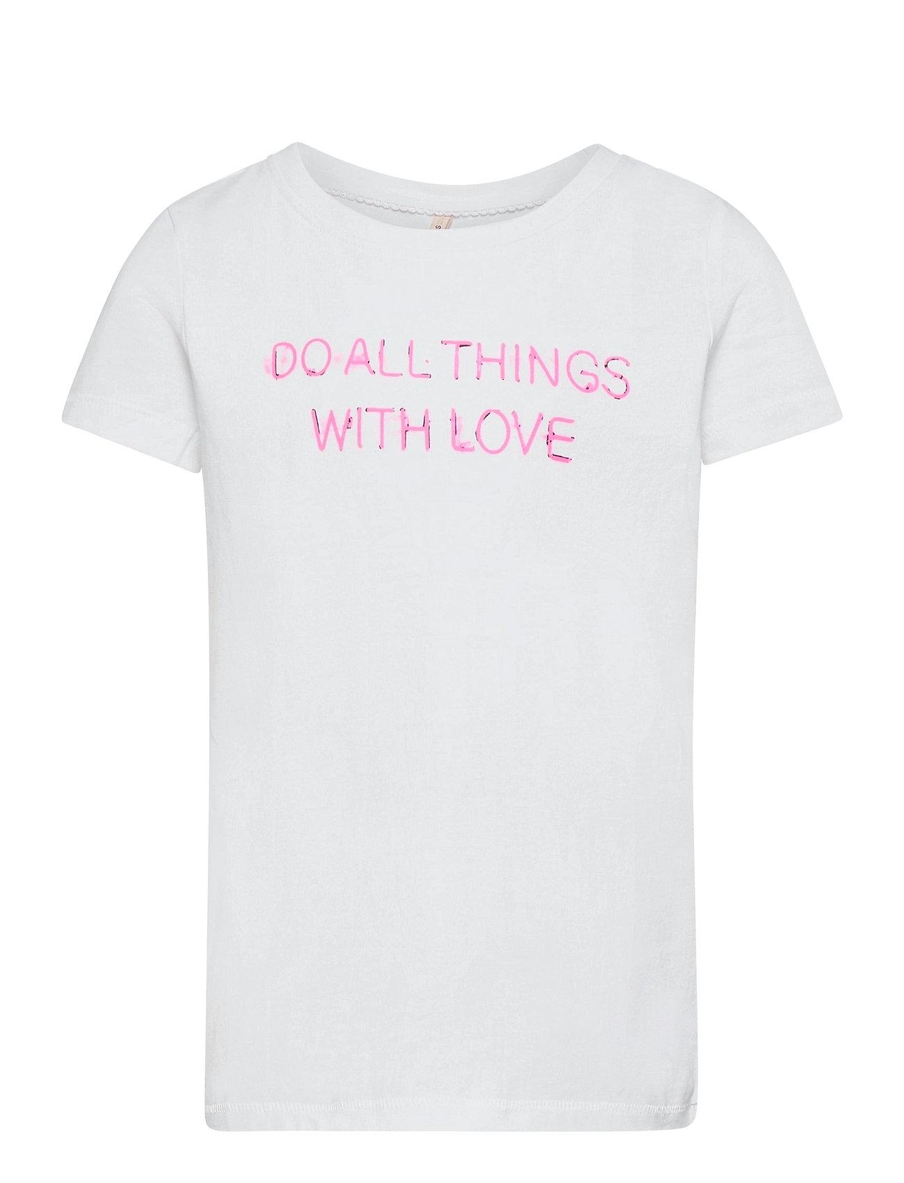 Kids Only - KONCHLOE LIFE BOXY S/S BOX TOP JRS - t-shirts - bright white - 0