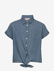 Kids Only - KONRONJA KNOT DNM SHIRT LB - blouses & tunics - medium blue denim - 0