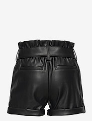 Kids Only - KONCHARLI FAUX LEATHER SHORTS PNT - shorts - black - 1