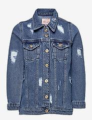 Kids Only - KONEMILIA LONG DENIM JACKET AZG - jeansjacken - medium blue denim - 0